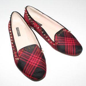 Zara Woman | Flats Tartan Spikes